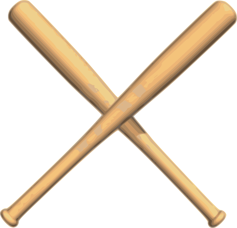 Crossed baseball bats clipart black and white image royalty free Clipart - Crossed bats baseball image royalty free