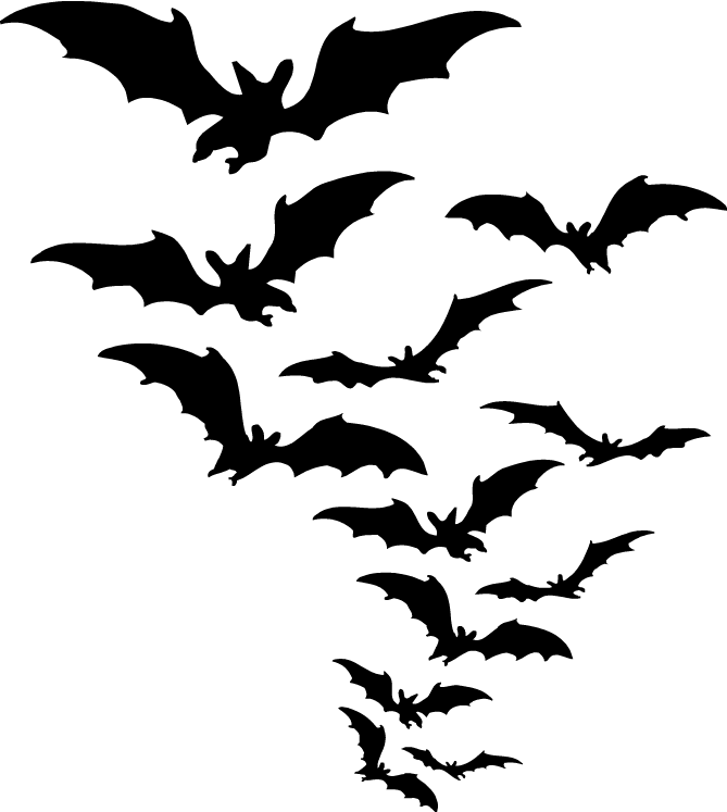 Halloween flying bats clipart image black and white library Bats Clipart (34+) Bats Clipart Backgrounds image black and white library