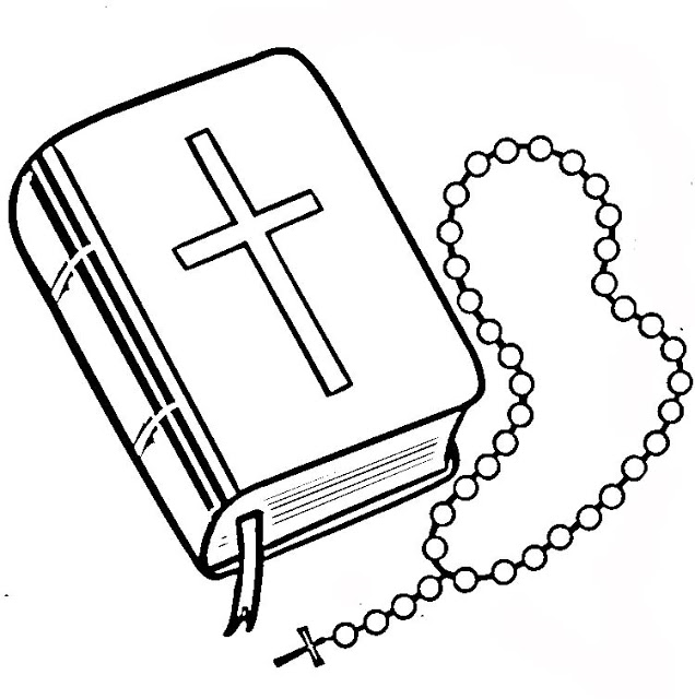 Cross bible and rosary black and white headstone clipart graphic library stock Rosaries Drawings | Free download best Rosaries Drawings on ... graphic library stock