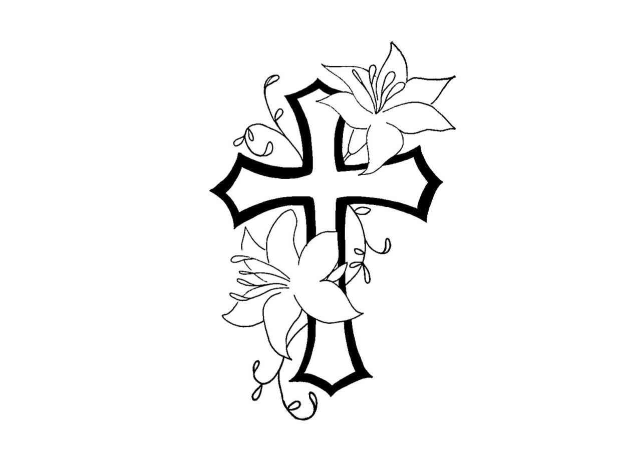 Cross bible and rosary black and white headstone clipart jpg black and white library Rosaries Drawings | Free download best Rosaries Drawings on ... jpg black and white library