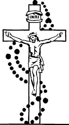 Cross bible and rosary black and white headstone clipart clipart free stock Rosaries | Quiring Monuments clipart free stock