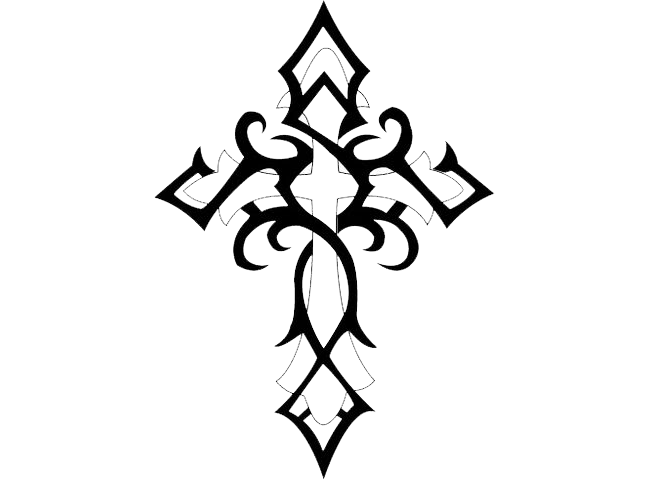 Cross black & white clipart vector freeuse download Cross Tattoos Clipart transparent background - Free Clipart on ... vector freeuse download