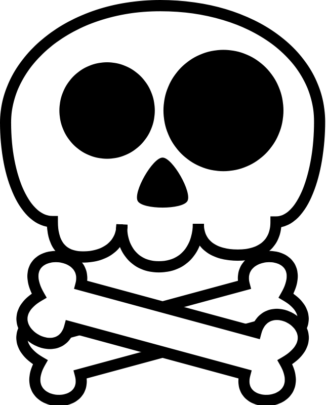Skull and cross bones clipart banner free download Skull And Crossbones | Free Stock Photo | Illustration of a skull ... banner free download