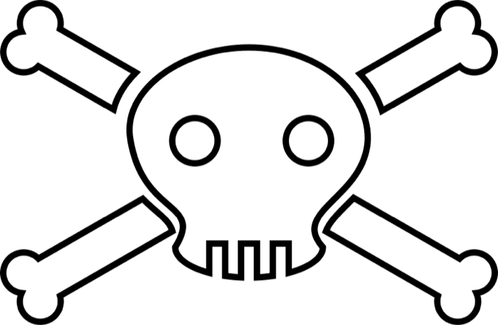 Skull and Crossbone Clipart png free download