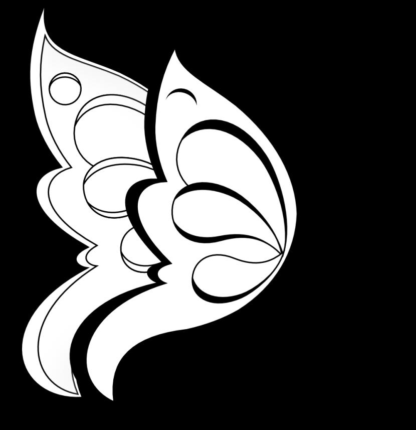 Cross border clipart black and white jpg royalty free library Black And White Flower Clipart | Free download best Black And White ... jpg royalty free library