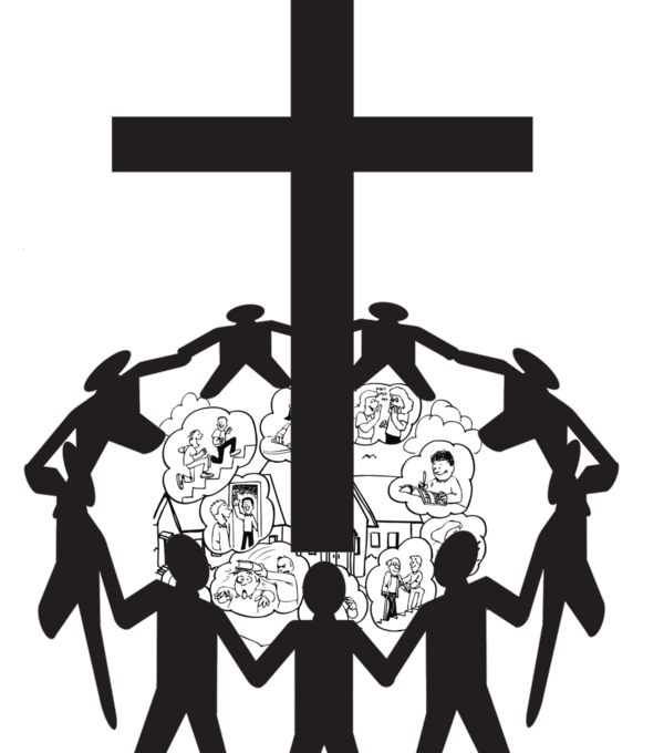 Walk to the cross clipart picture black and white stock Celebrate the Parish Feast of The Exaltation of the Holy Cross With ... picture black and white stock