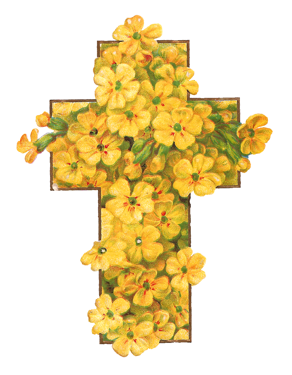 Cross clipart for easter picture library download Antique Images: Printable Digital Easter Graphics of Cross with ... picture library download