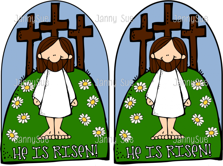 Cross clipart for easter jpg free Jesus & the cross- He is Risen Easter Craft jpg free
