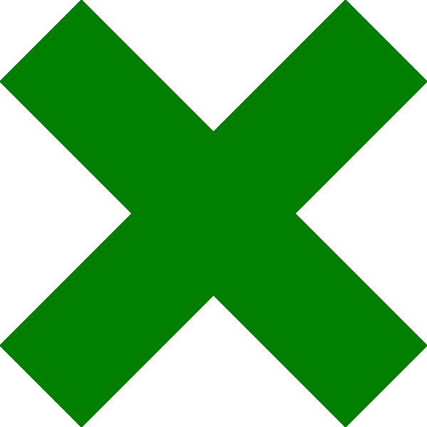 Green cross clipart