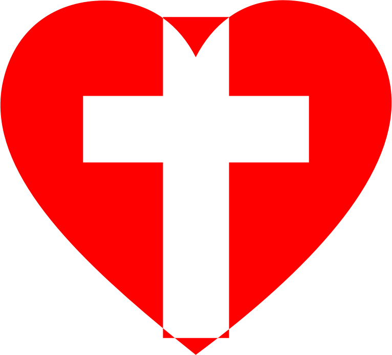 Cross clipart heart vector royalty free Clipart - Heart Cross 2 vector royalty free