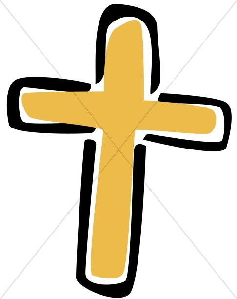 Cross clipart image svg library stock Simple Gold Cross Clipart | Cross Clipart svg library stock