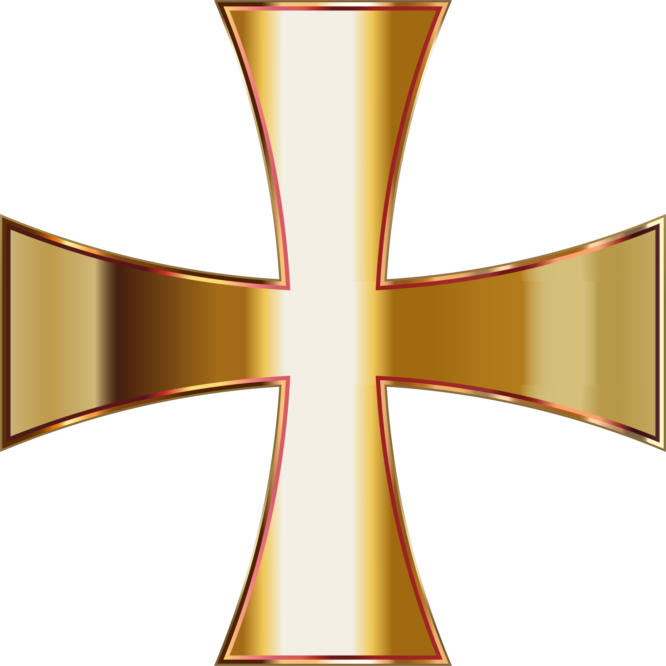 Maltese cross clipart free jpg transparent download Clipart - Gold Maltese Cross No Background jpg transparent download