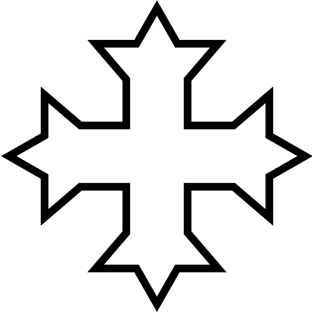 Cross clipart outline image free library File:Coptic Cross outline.svg - Wikimedia Commons image free library