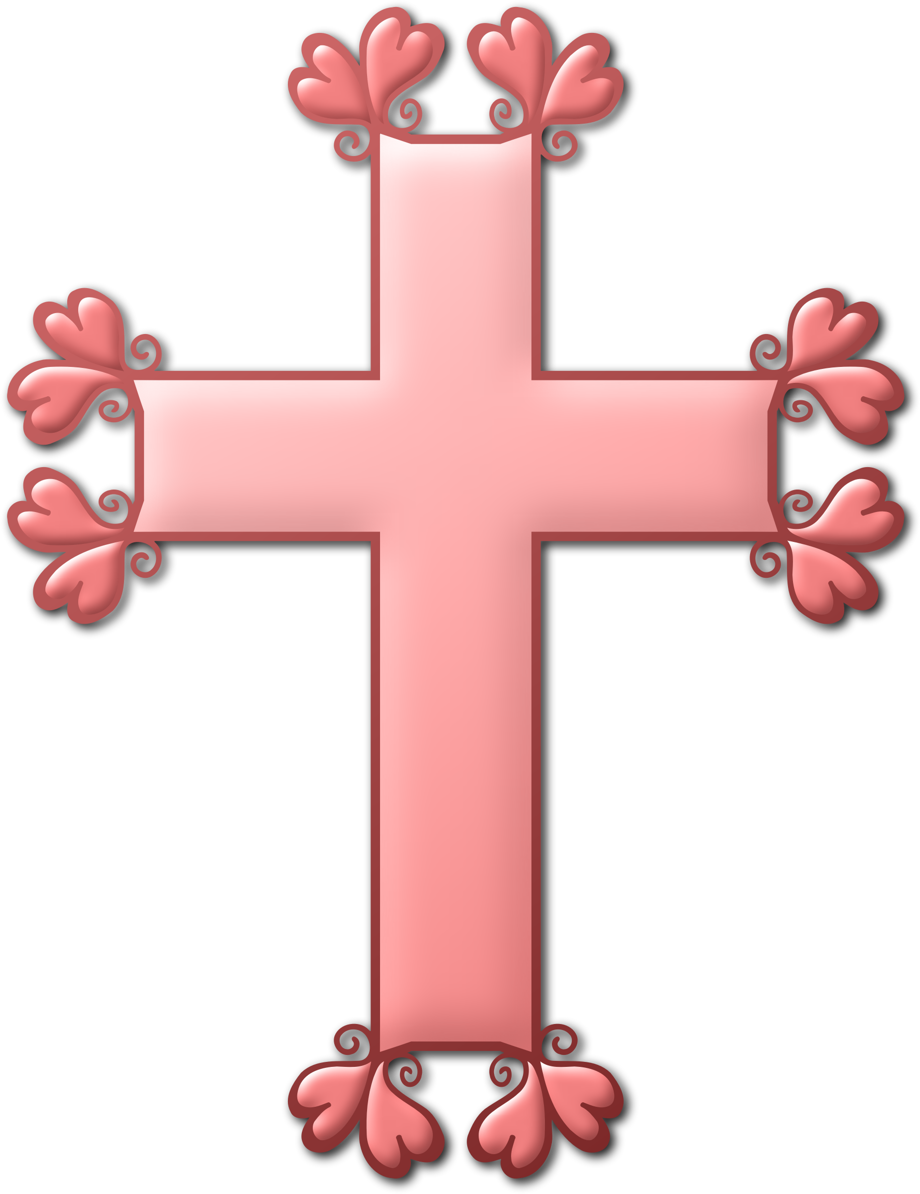 Cross clipart with heart banner royalty free library Clipart - Heart cross (colour) banner royalty free library