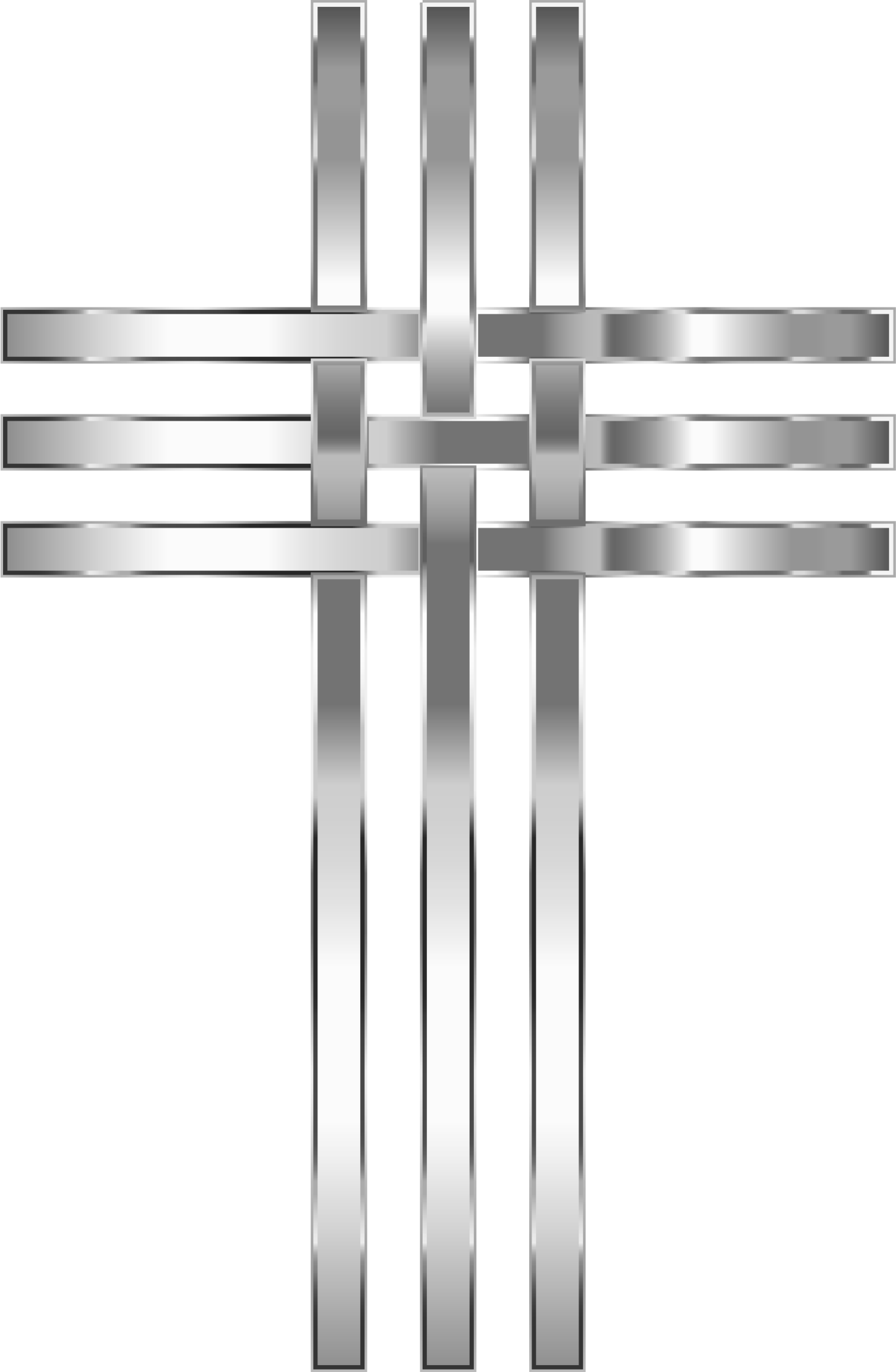 Old rugged cross clipart vector transparent stock Clipart - Interlocked Stylized Stainless Steel Cross No Background vector transparent stock