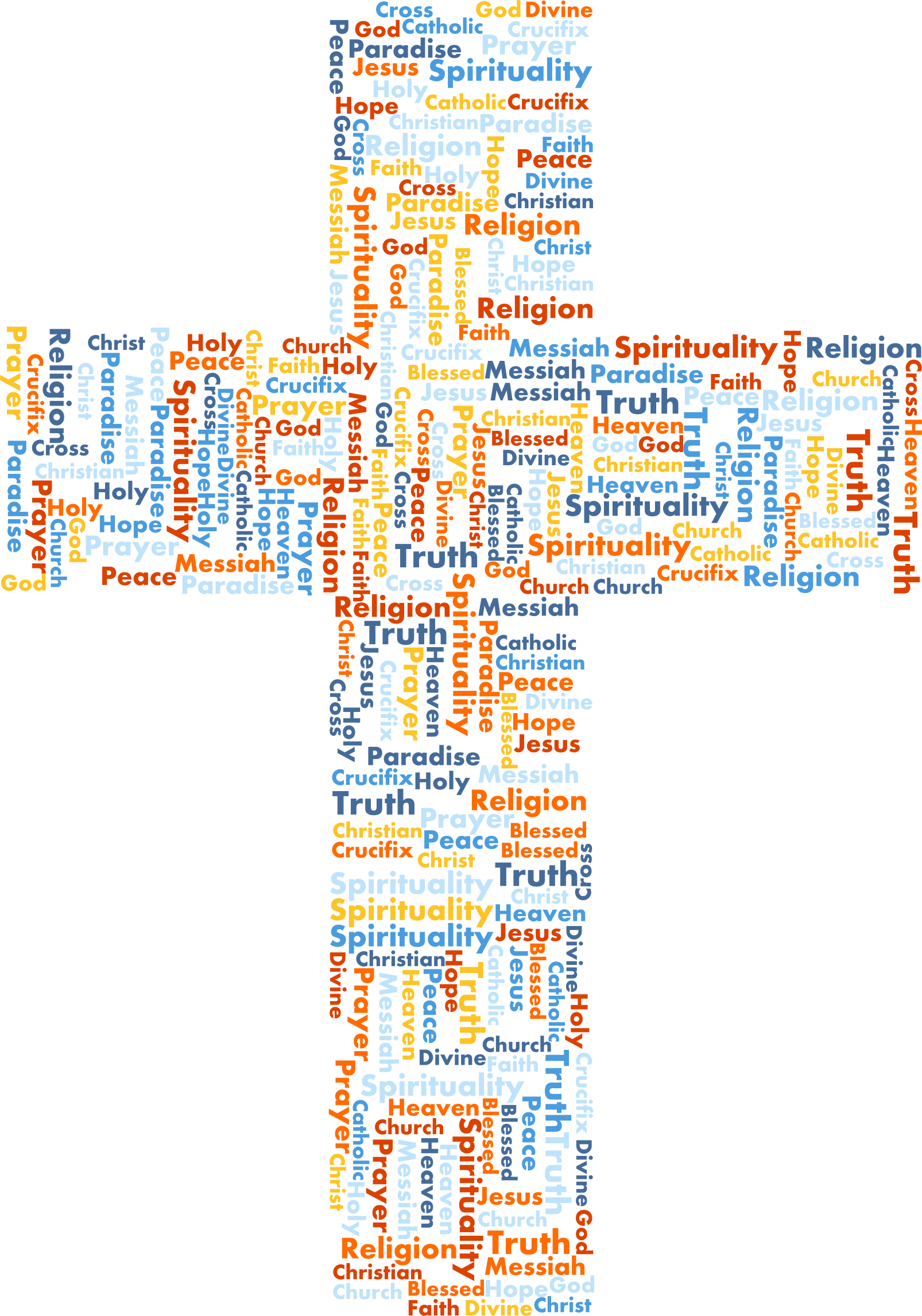 Cross clipart with words jpg freeuse download Clipart - Jesus Cross Word Cloud No Background jpg freeuse download