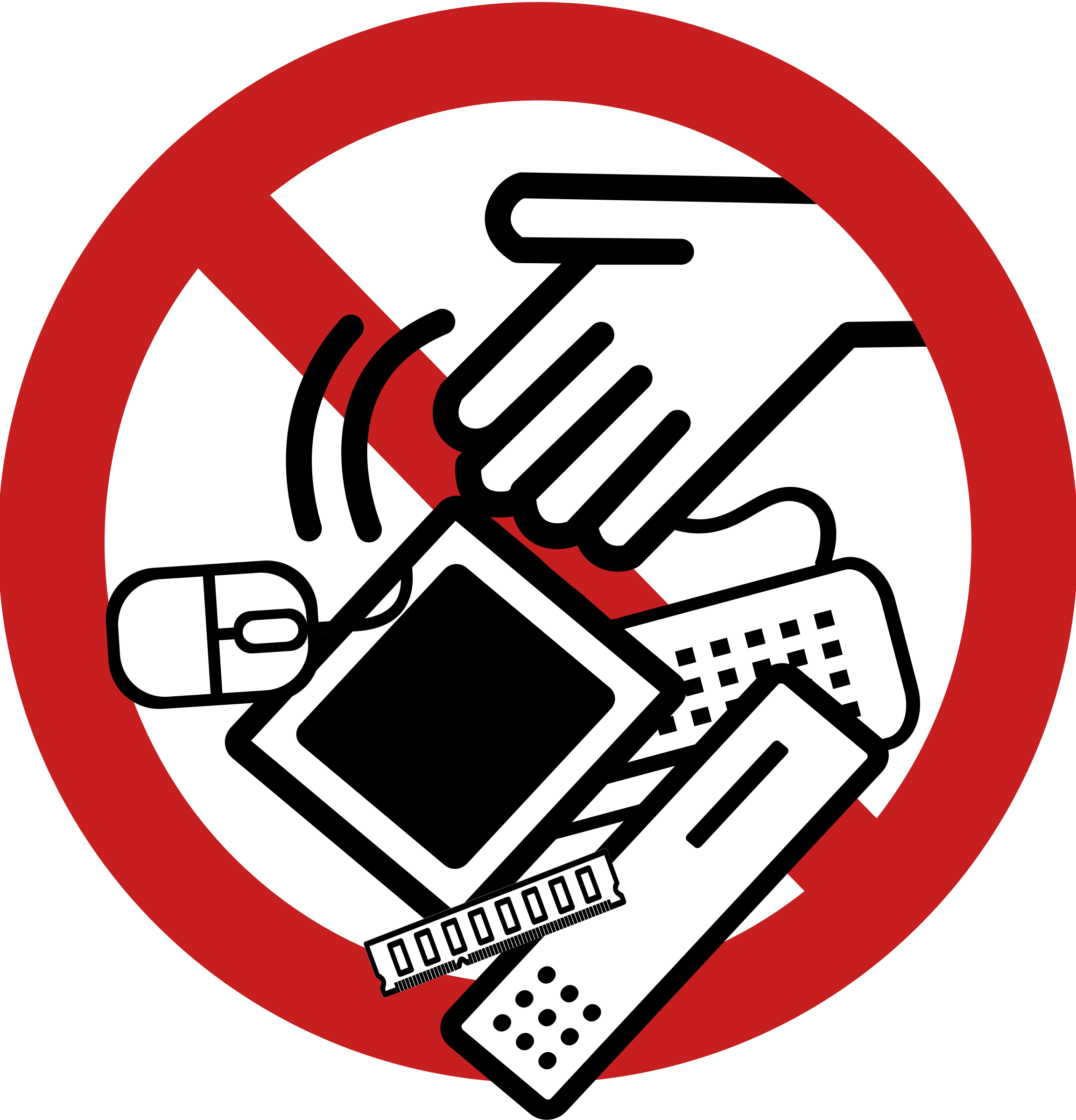 Cross contamination clipart image royalty free library No E-Waste! Icons PNG - Free PNG and Icons Downloads image royalty free library