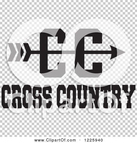 Cross country arrow clipart graphic freeuse Clipart of a CC Arrow with Cross Country Running Text in Black and ... graphic freeuse