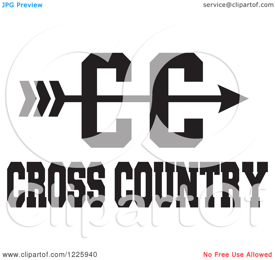 Cross country arrow clipart banner library Xc clipart with arrow - ClipartFest banner library