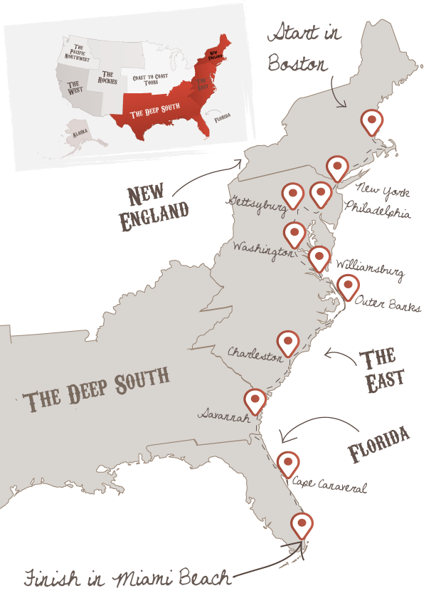 Cross country road trip clipart. Ultimate east coast pinterest