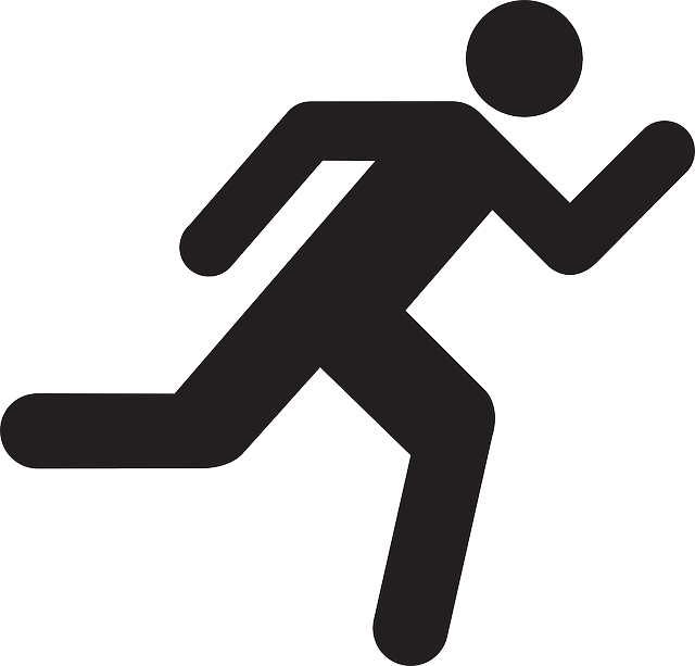 running man silhouette - Google Search | Art of Level Design ... clipart black and white download