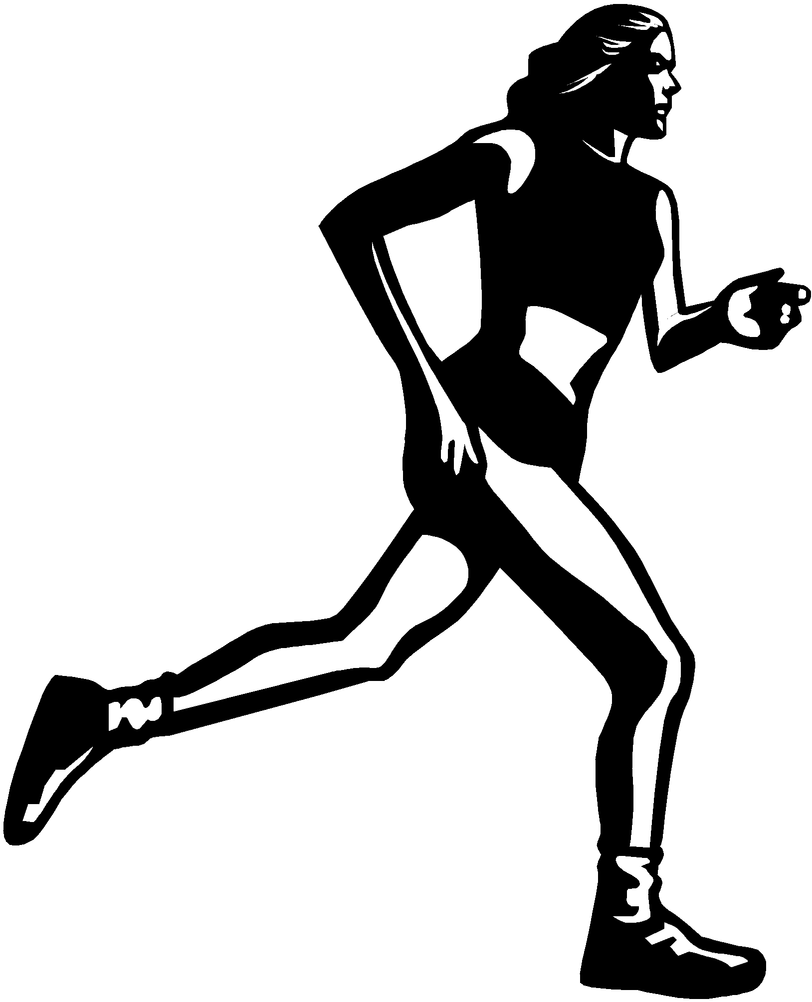 Cross country runner clipart banner black and white stock Cross country runner clipart 7869133 - som300.info banner black and white stock