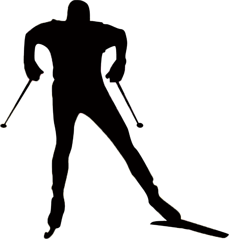 Cross country skier clipart clipart transparent library Cross Country Skier Silhouette at GetDrawings.com | Free for ... clipart transparent library