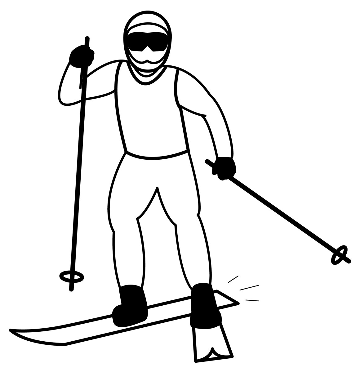 Cross country skier clipart black and white vector freeuse stock Free Ski Cliparts Black, Download Free Clip Art, Free Clip Art on ... vector freeuse stock