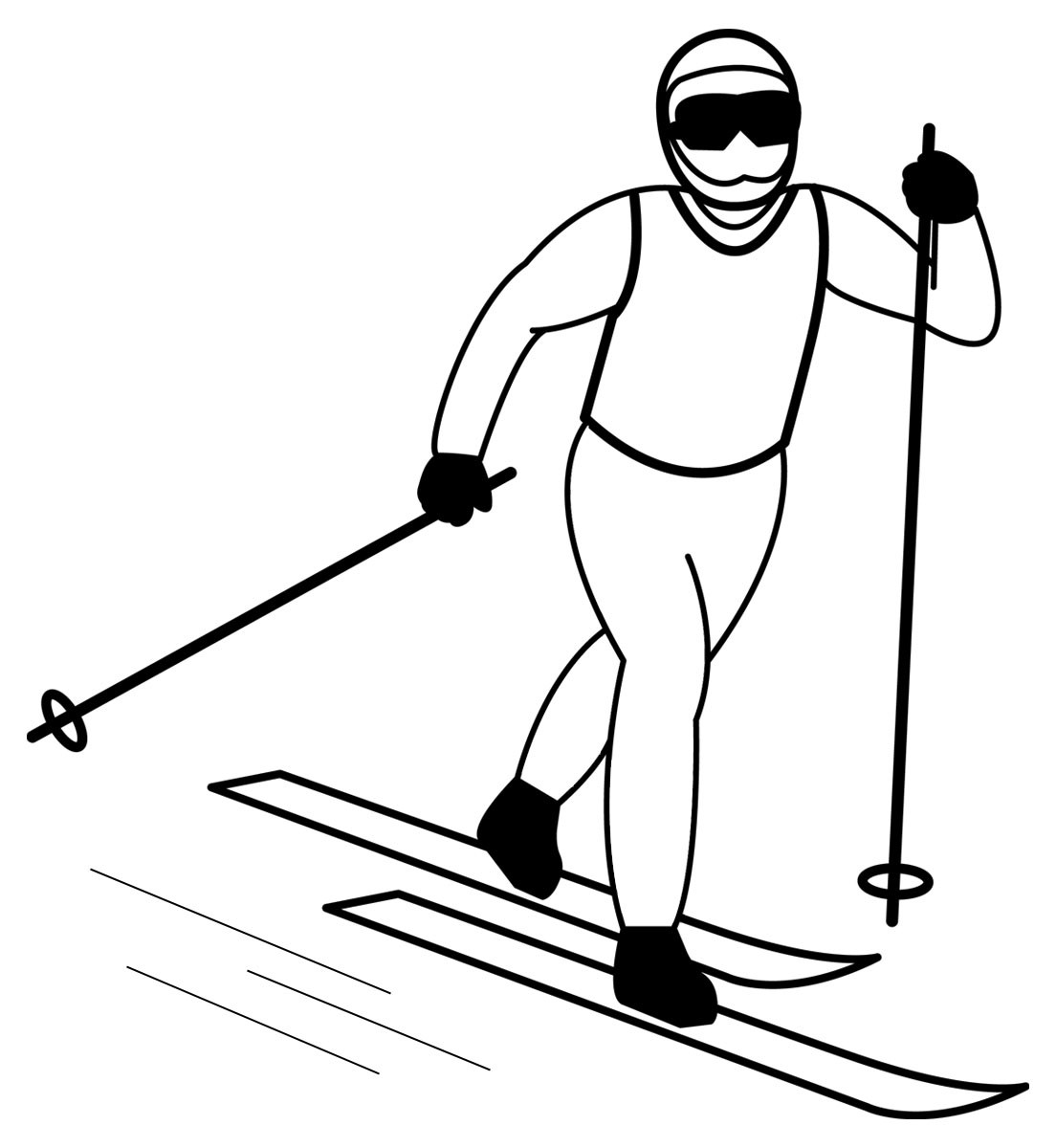 Cross country skier clipart black and white png Ski clipart black and white 2 » Clipart Portal png