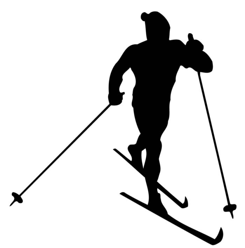 Cross country skier clipart black and white clipart transparent download Skiing season | Yorkton This Week clipart transparent download