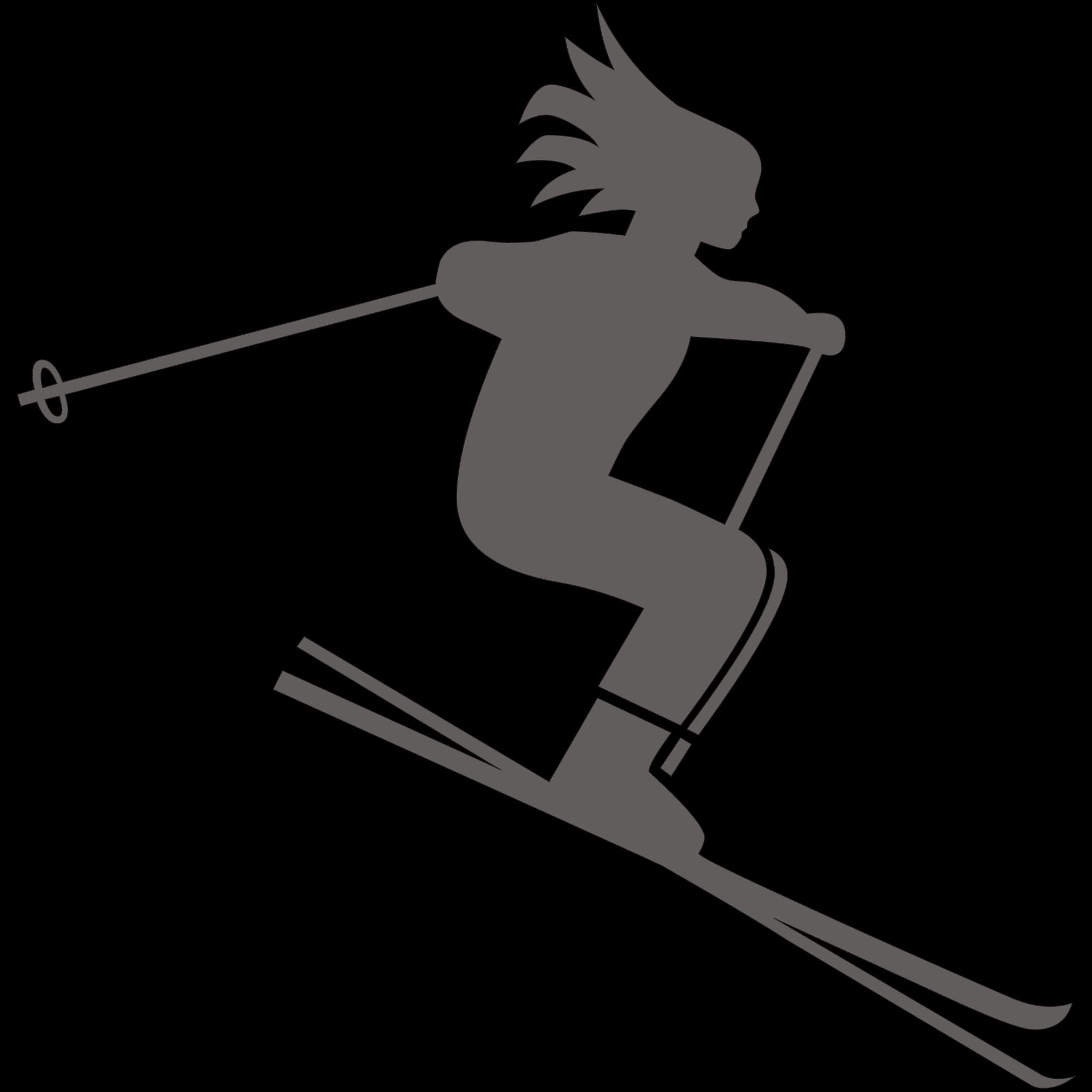 Skiing PNG image freeuse download