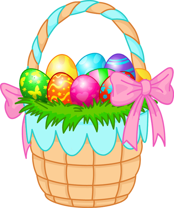 Cross eggs easter clipart clipart transparent Easter Basket Eggs Pink Ribbon transparent PNG - StickPNG clipart transparent