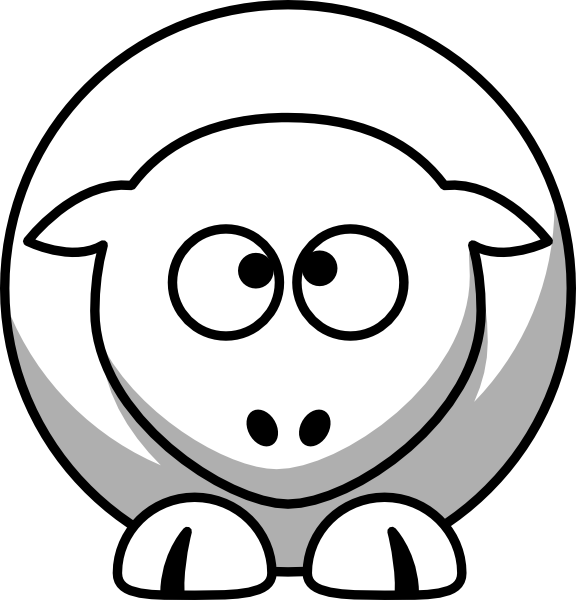 Cross eyed clipart. Cartoon sheep
