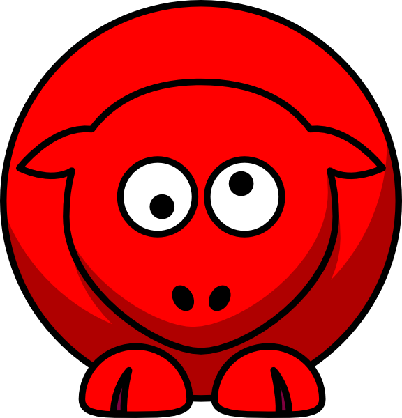 Cross eyed clipart. Sheep red looking crossed