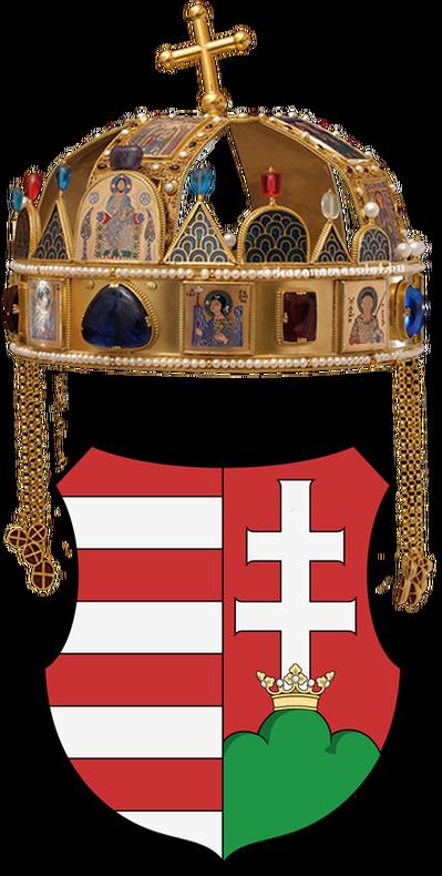 Cross facing right clipart stock Hungarian crest - Hungarian Culture stock