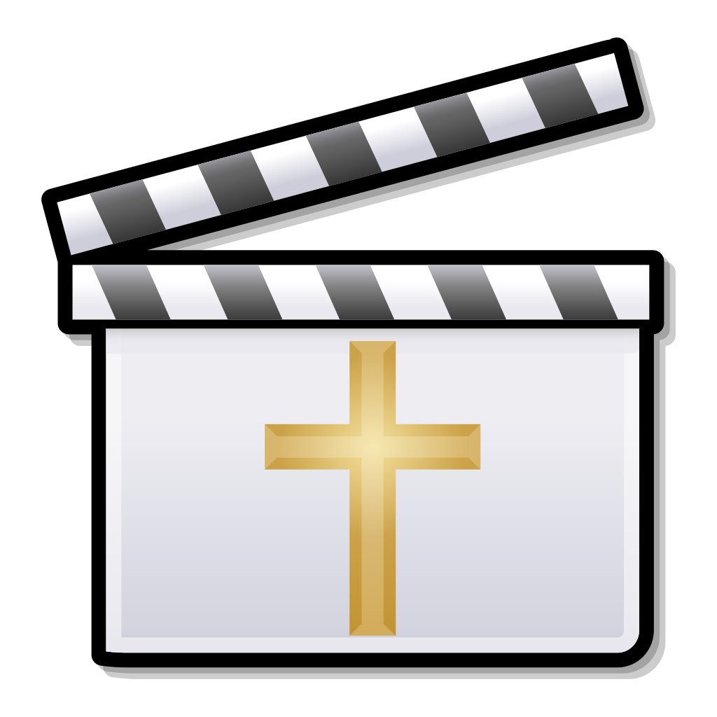 Cross facing right clipart svg freeuse File:Golden Cross Clapperboard.svg - Wikipedia svg freeuse