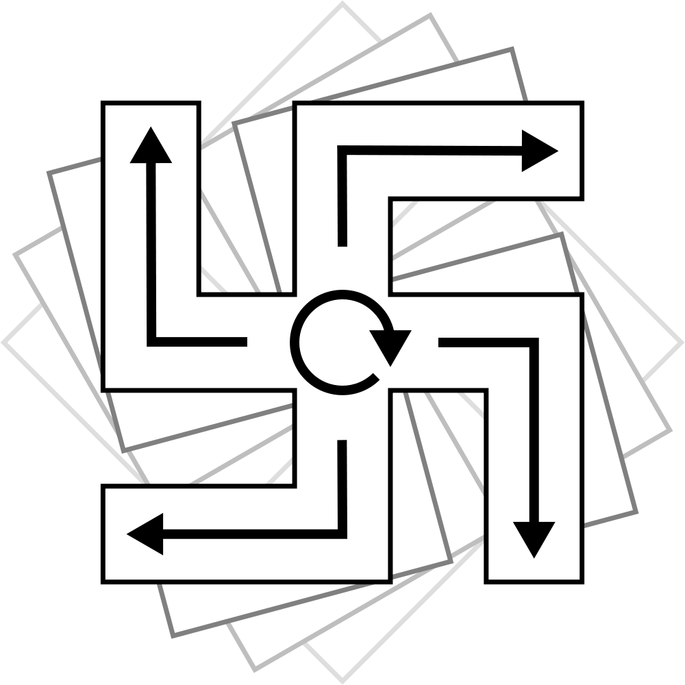 Cross facing right clipart clipart freeuse stock File:Cw right-facing swastika.ant.svg - Wikimedia Commons clipart freeuse stock