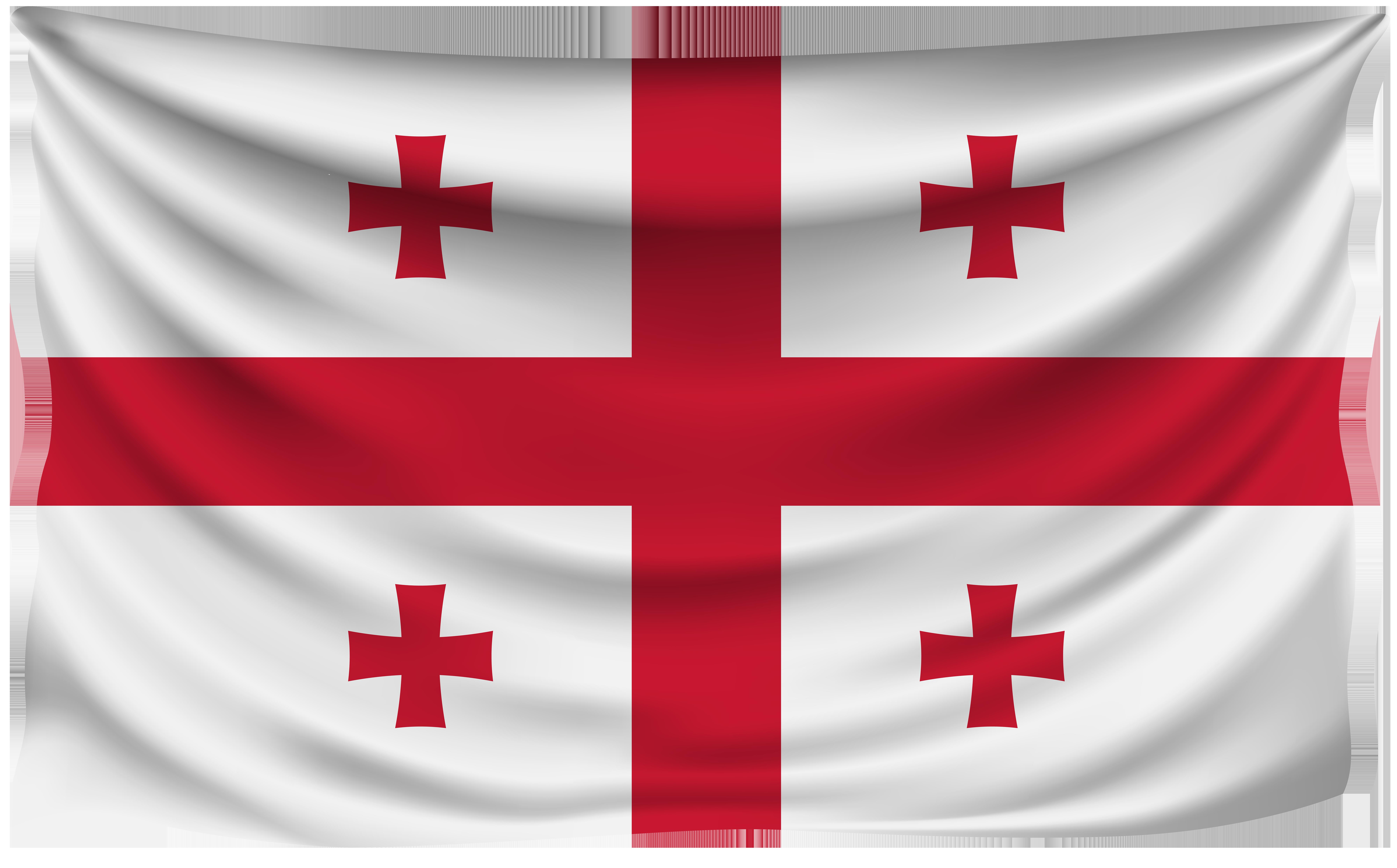 Cross flag clipart jpg transparent stock Georgia Wrinkled Flag | Gallery Yopriceville - High-Quality Images ... jpg transparent stock