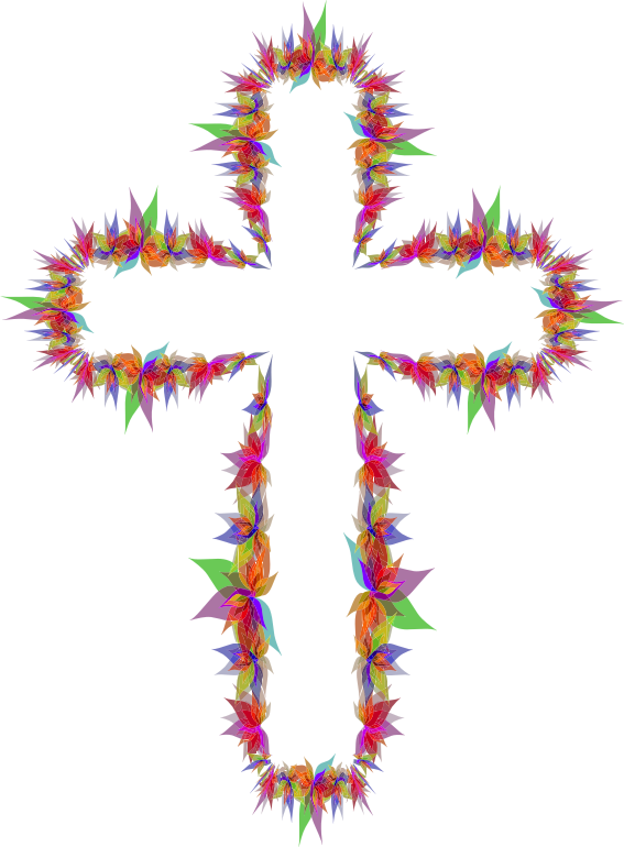 Cross flower clipart free download Clipart - Abstract Flowers Cross free download