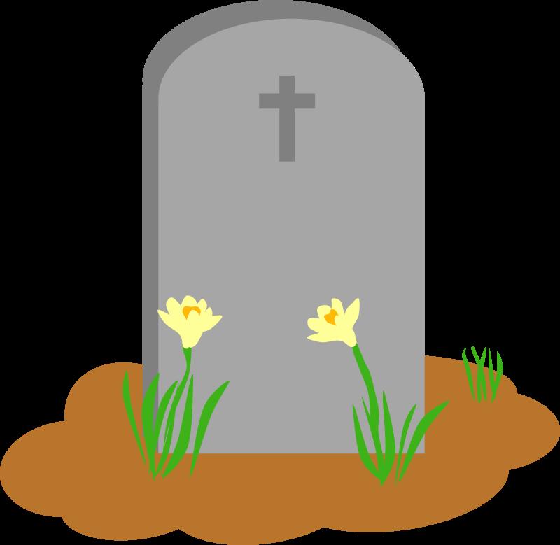 Cross gravestone clipart graphic freeuse library Clipart - Gravesite in Spring graphic freeuse library