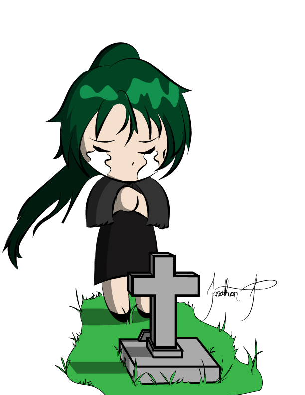 Cross gravestone clipart clipart royalty free stock Crying Chibi Girl Crying at a Gravestone by 14jonathan on DeviantArt clipart royalty free stock
