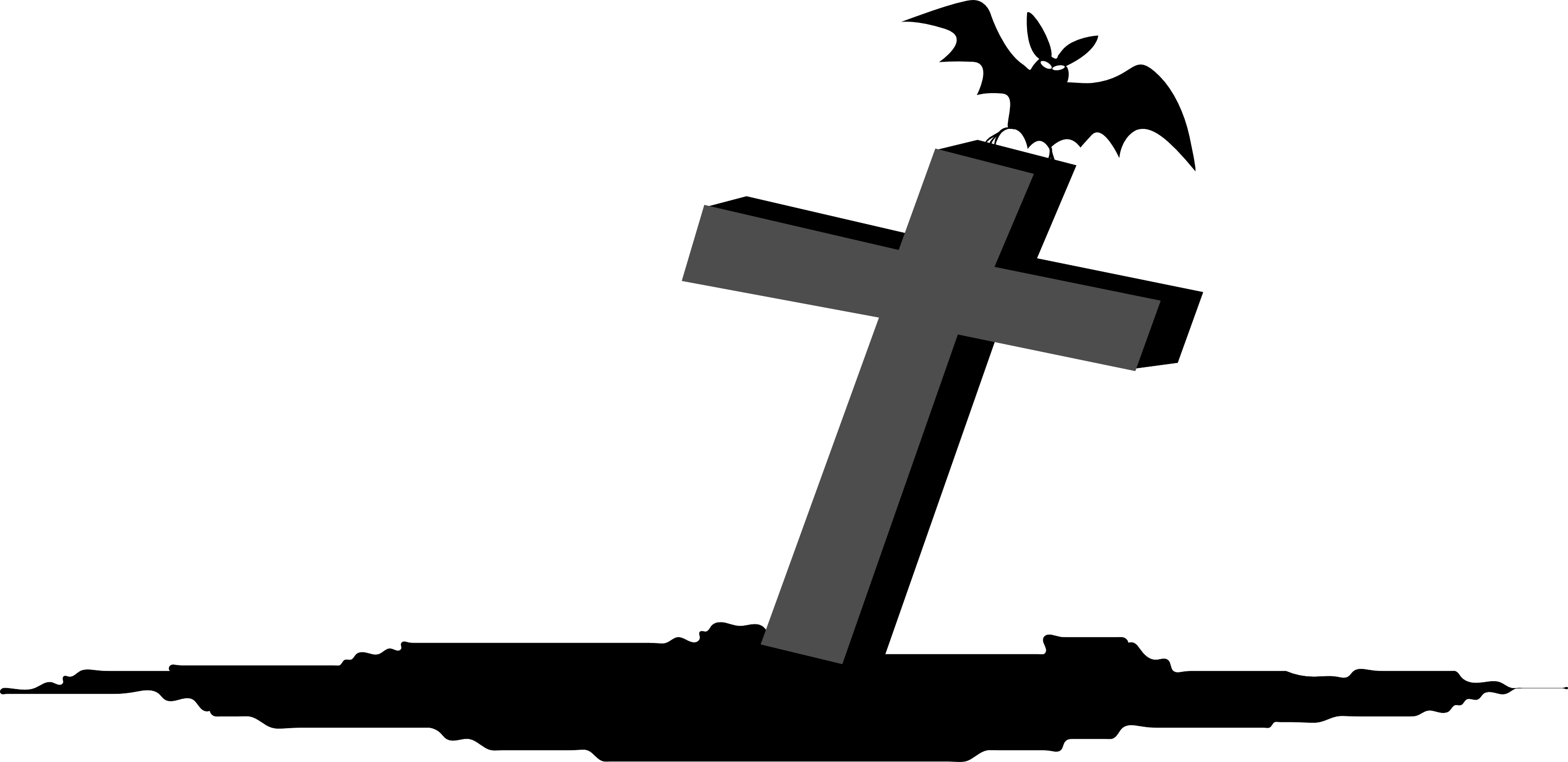 Cross gravestone clipart png black and white Gravestone PNG images free download png black and white