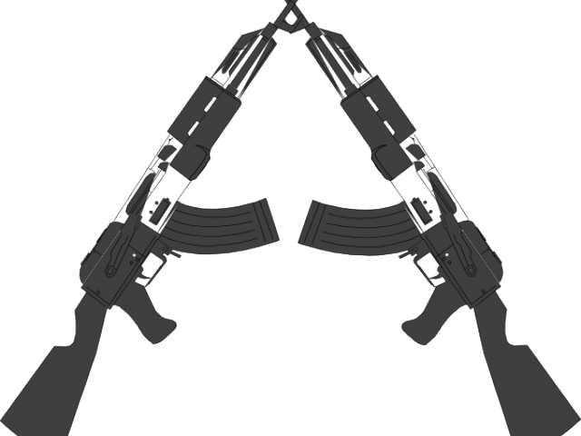 Cross guns clipart clip black and white Two Guns Crossed 3 - 1500 X 1500 | carwad.net clip black and white