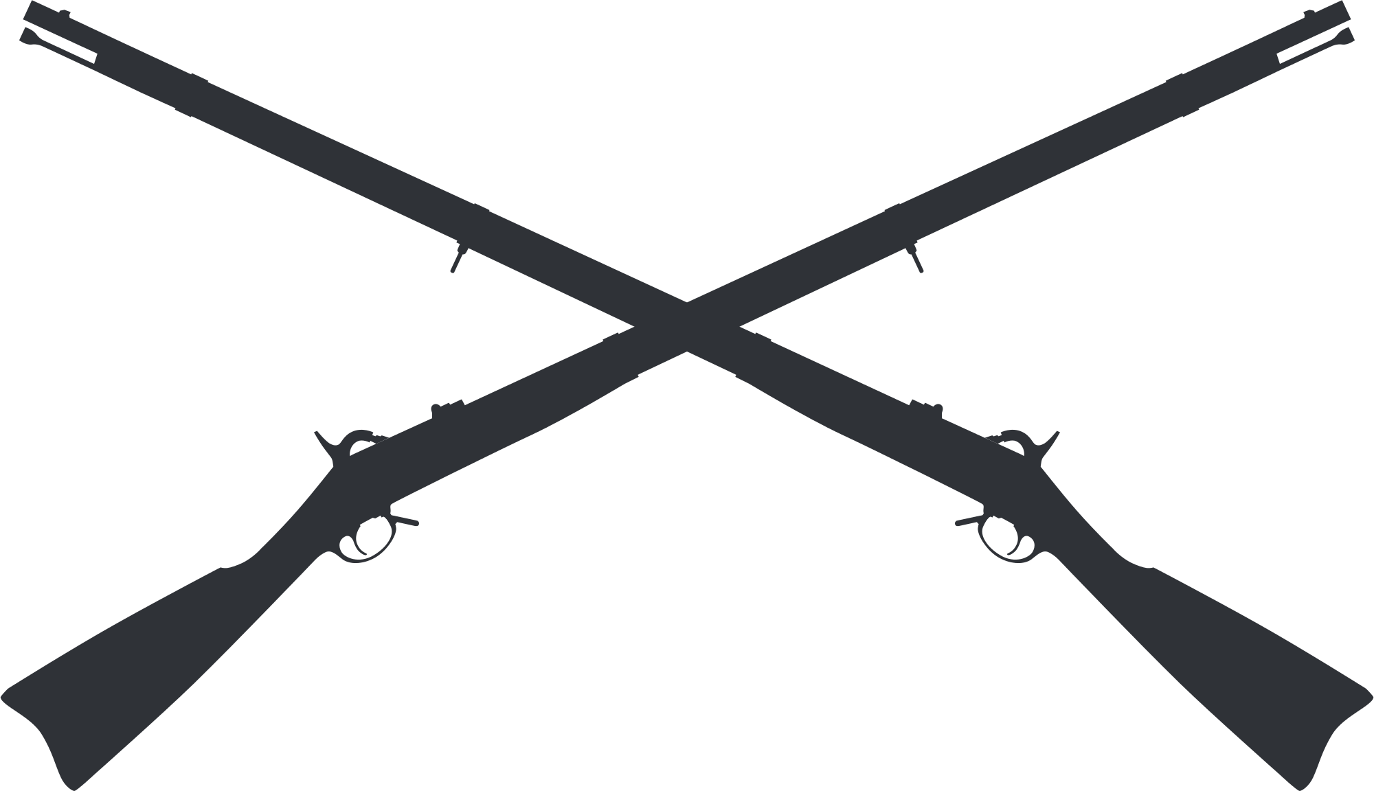 Cross rifles clipart vector free stock File:1861 Springfield Crossed Muskets.svg - Wikimedia Commons vector free stock