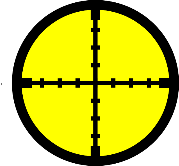 Cross hairs clipart image black and white library Yellow Target. Clip Art at Clker.com - vector clip art online ... image black and white library