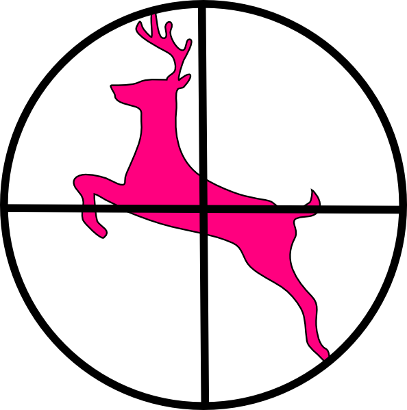Cross hairs clipart image freeuse stock Deer In Scope Clip Art at Clker.com - vector clip art online ... image freeuse stock