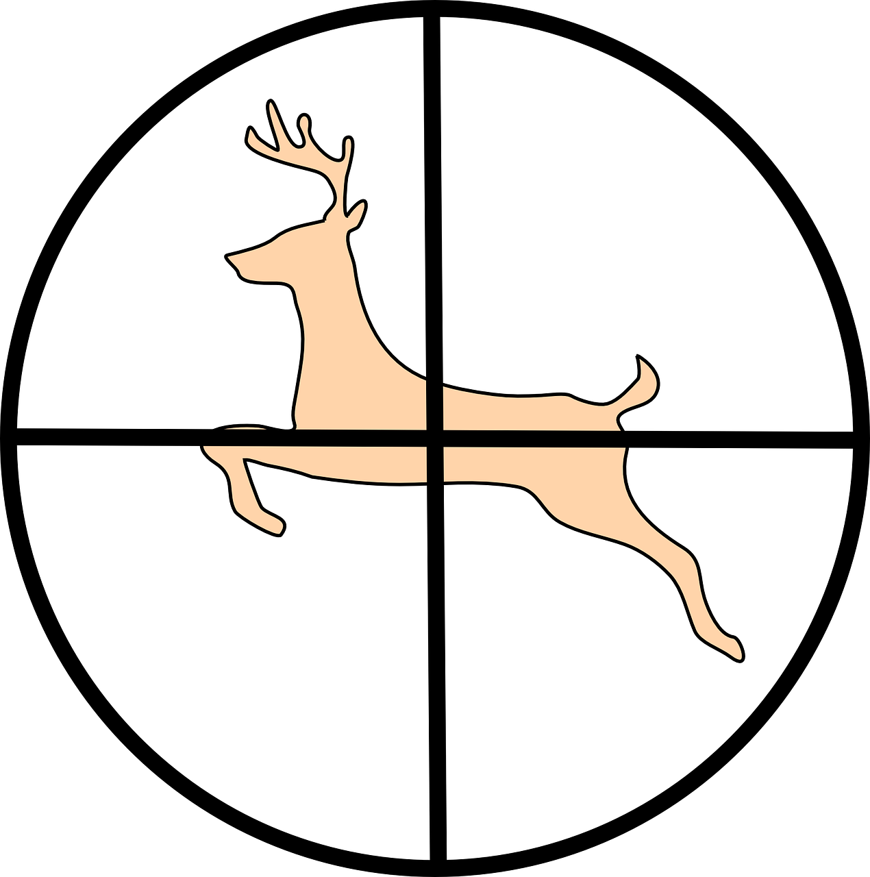 Cross hairs clipart clip free Crosshair Hunting Deer Animal PNG Image - Picpng clip free
