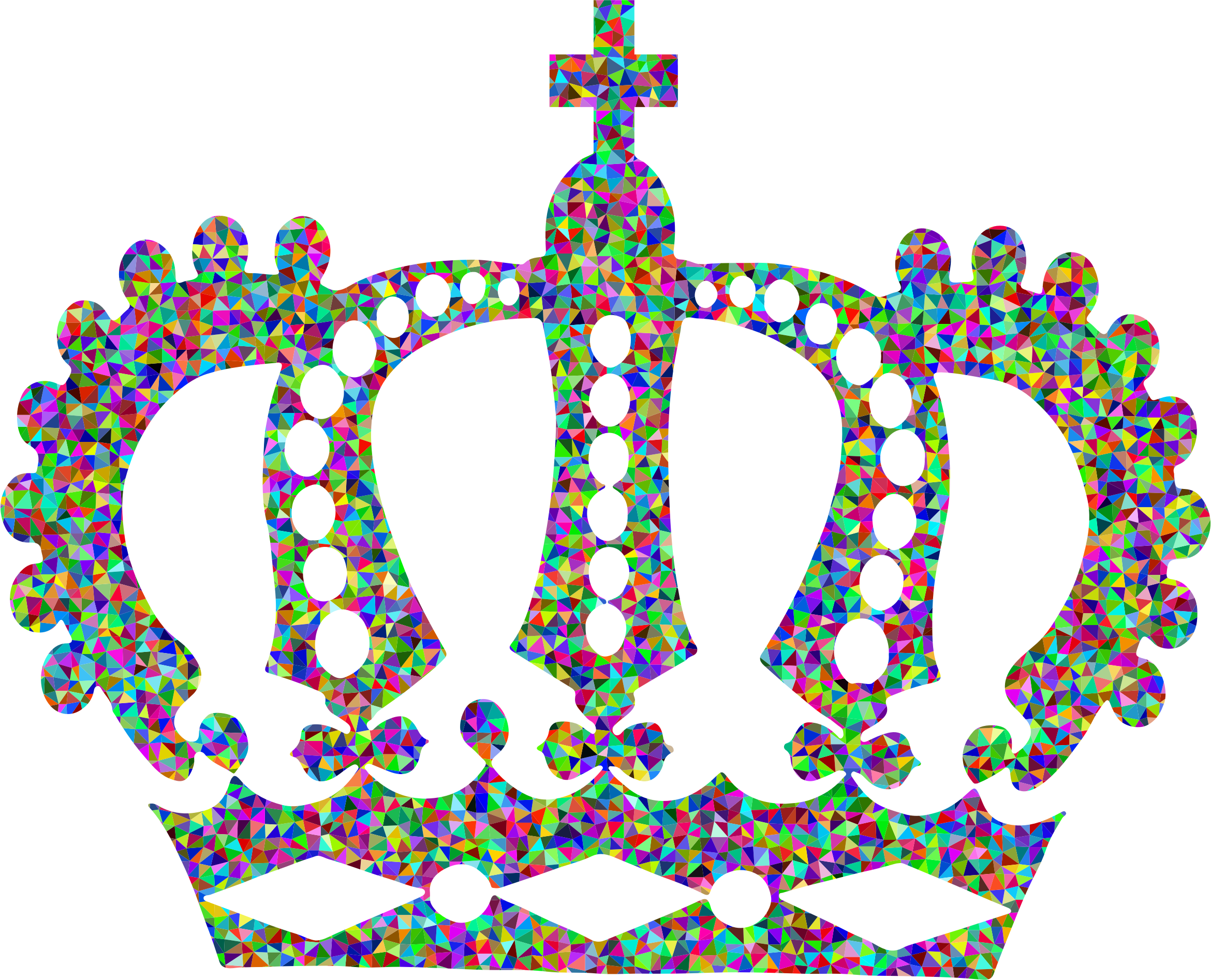 Crown royal clipart black and white Clipart - Low Poly Prismatic Royal Crown black and white