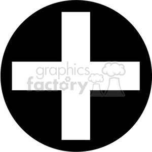 Cross in circle clipart black and white clipart black circle addition sign clipart . Royalty-free clipart # 387180 clipart