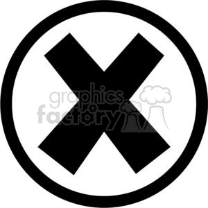 Cross in circle clipart black and white png library library black circled x clipart. Royalty-free clipart # 379620 png library library